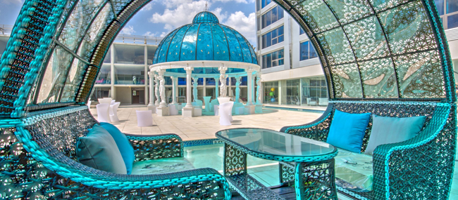 cabanas available to reserve for a semi-private gathering or a celebration in Houston